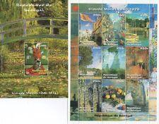 COPPIA di famoso artista CLAUDE MONET MNH STAMP sheetlets