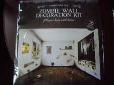 HALLOWEEN ZOMBIE WALL DECORATION KIT CONTAINS 26 DECALS BNIP FREE UK P&P