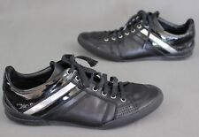 DIOR HOMME Black Calfskin B18 SIGNATURE Lace-Up Sneakers / Trainers Size 38 UK 5