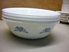 "Corelle Blue Hearts Set of 4 Cereal Bowls 6-1/4"""
