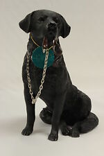 Black Labrador Dog Sitting 'Walkies' Ornament Gift Figure Figurine New & Boxed