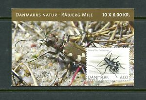 E151 Denmark 2007 insects COMPLETE BOOKLET MNH