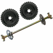 "New listing 29"" Go Kart Rear Axle Kit Disc Rotor Sprocket Hub 6"" Wheels Quad Buggy Drift ATV"