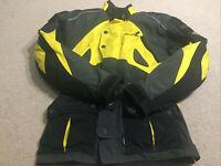 Dririder Motorcycle Protective Jacket Nordic 2 52/42L Yellow Black Dri Rider