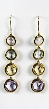 18k Yellow Gold Pastel Mix Drop Earrings From Mappin & Webb RRP £2,750
