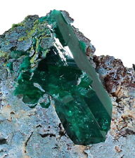 Dioptase and Plancheite from Kimbedi in the DR Congo