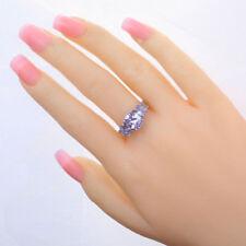 Tourmaline Light Purple For Women Fashion Silver Plated Ring Jewelry Gems