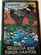 SEQUOIA KINGS CANYON NATIONAL PARK EMBROIDERED PATCH CALIFORNIA SOUVENIR (489)