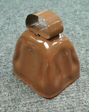 """Vintage Old New Stock Painted Brown 3"""" Cow Bell Lancaster Cty Pa"""