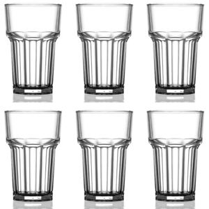 HiBall Half-Pint Glass Clear - CE Marked Polycarbonate Plastic 10oz - Pack of 6