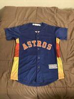 Houston Astros Jose Altuve Stitched Majestic Cool Base Jersey Size Youth Large