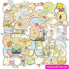 Japanese Cartoon Sumikko Gurashi Waterproof Stickers 50 Pc Pack ~ Kawaii Sticker