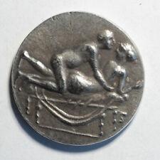 Caligula Coin Ancient Roman Empire Spintria Brothel Erotic Antique Token #3