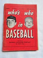 VINTAGE: Who's Who in Baseball 1953 - Hank Sauer/Bobby Shantz Cover