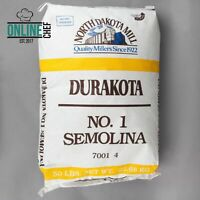 50 Lb Bulk Semolina Flour Bag Home Pantry Food Supply Meal Pasta High Gluten