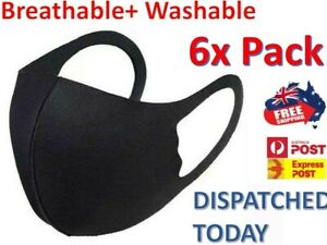 6 Pack Face Mask Washable Unisex  Mouth Masks Protective Reusable   SYD IN STOCK