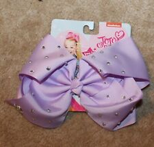 Nickelodeon JO-JO SIWA Hair Bow w/ Clips (purple w/ rhinestones) New