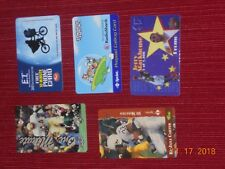 COLLECTIBLE  Phone Cards (5) ET, JETSON, STACKHOUSE, CARTER, & FLOYD