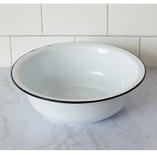 Vintage-Style Enamelware Bath Bowl