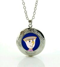 Disney Beauty and the Beast Chip Necklace locket  Marbel locket  830