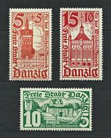 DR Danzig Nazi WWII Rare WW2 Stamps 1935 Danzig Castles Towers Gates Collection
