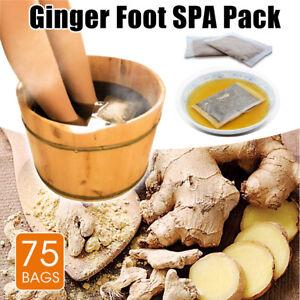 75pcs Natural Plants Ginger Foot Bath SPA Pack Soak Feet Soothing Herbal Powder