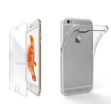 Hülle Panzerglas für iPhone 6 6s TPU Case Silikon Schutz Bumper Tasche Cover