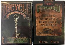 Necronomicon Bicycle Playing Cards Poker Size Deck USPCC Limited Edition Custom