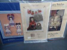 3 Craft Patterns Angels, Stuffed Dolls Bunny, Kitten, etc UNCUT