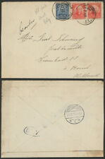 Brazil WWI 1916 - Cover to Netherlands - Belgian Field Post Cancel