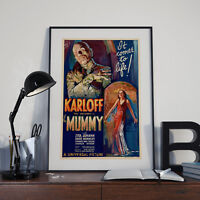 The Mummy 1951  Boris Karloff  movie poster canvas print