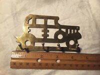 Brass Key Chain Holder, 4 Hooks, Design  Car, Collectible Key Holder, As is