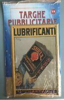 Targa pubblicitaria in latta LUBRIFICANTI SHELL - Hachette n.15 -  SIGILLATO