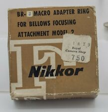 NOS - Earlier Var. Nikon Macro Adapter Ring BR-2 - Bellows & 52mm Reversing Ring