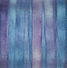 Silk Ribbon 4mm 100% Pure Embroidery Blue - Hand Dyed Hydrangea - 3 mtr