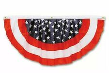 Stars & Stripes Fabric Bunting, American Flag 4ft Beistle