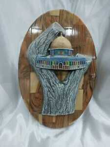 Wooden hanging wall stereoscopic Al-Aqsa Mosque beautiful decorative handmade