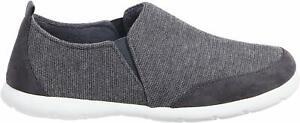 isotoner Zenz Men's Activate Heather Knit Close Back Slipper, Slip-On Shoe