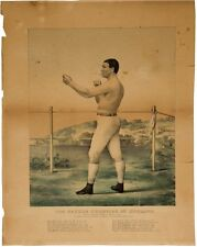 TOM SAYERS 19TH CENTURY BOXING CHAMPION LITHOGRAPH RARE 1860