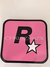 "Grand Theft Auto V 5 Rockstar Games LOGO Sticker Decal Pink 3"" x 3 1/16"""