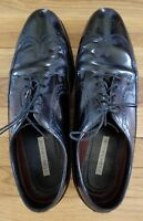Florsheim Black Leather Wingtip Dress Shoes Size 10-11 EEE
