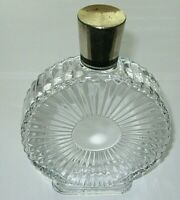 "Vintage  Leaded Crystal Houbigant Perfume Bottle Chantilly Open/Empty 7"" Height"
