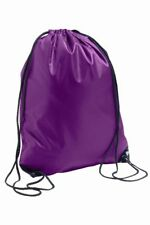 PURPLE Draw String Gym Sack School PE Shoe Dance Rucksack Swim Bag