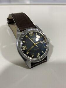 Oris Super T Vintage Cuerda Manual Reloj para Hombre 34MM Acero Hermosa Estado