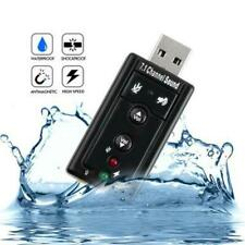 USB PC Laptop To Mic Speaker Headphone 3D Audio Sound Card Adapter 7.1 Channel