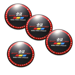 4PCS 56mm 2.2'' Mugen Power Aluminum Car Wheel Center Hub Cap Stickers Emblem