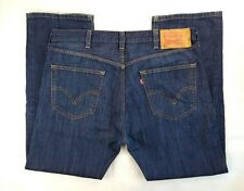 Levi's 501xx 38x30 Fits 40x30 100% Cotton Denim Regular Fit Dark Wash Blue Jeans
