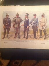 52601 ephemera Ww1 Book Plate Types Of The German Army