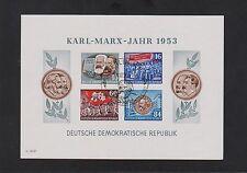 """DDR Block 9 B """"Karl-Marx-Jahr 1953"""" ungezähnt mit Ersttagssonderstempel"""