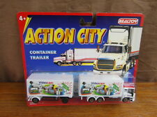 (S3)  REALTOY ACTION CITY TRAILER TRUCK CAMION VIDEOCAM New York  approx. 1/87e